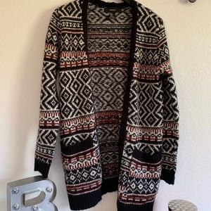 Forever 21 long printed sweater